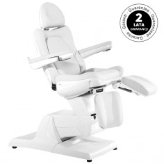 Fotel Kosmetyczny Elektryczny Azzurro 870s Pedi 3 siln. biały